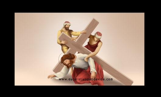 via-sacra-setima-estacao-jesus-cai-pela-segunda-vez