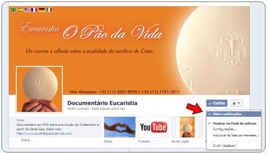 Facebook Documentário Eucaristia